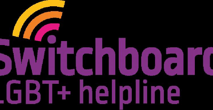 Purple text, LGBT+ Helpline, Radar Signal Off the i
