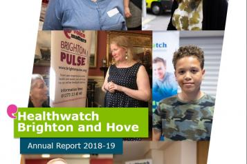 Cover of the healthwatch Annual Report 2019