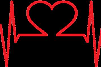 Healthcare symbol, Pulse, Heart Logo Central, Red