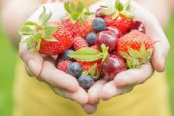 A handful of fruit