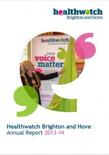 Healthwatch BH - Annual Report 2014
